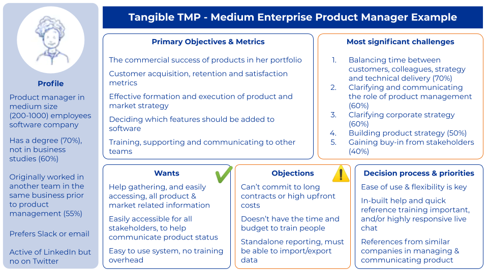 Target Market Profile Product manager example