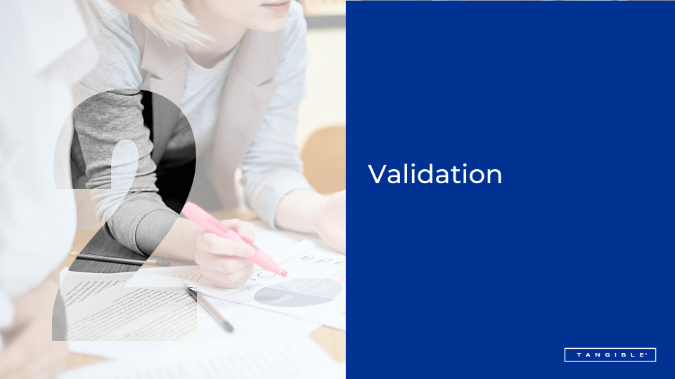 2. Validation - people working on a business plan